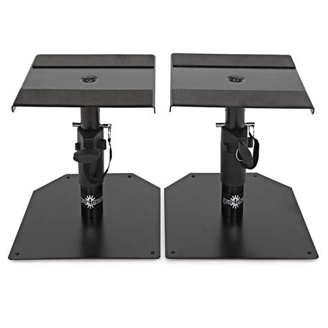 monitor desk stands desktop monitor speaker stands by gear4music pair at