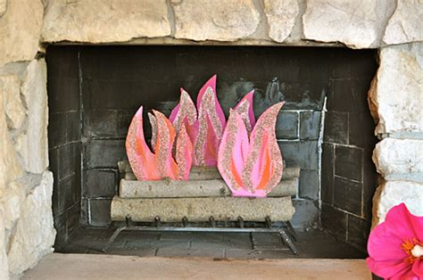 cfire crafts for how to make a paper cfire pink paper fireplace flames it