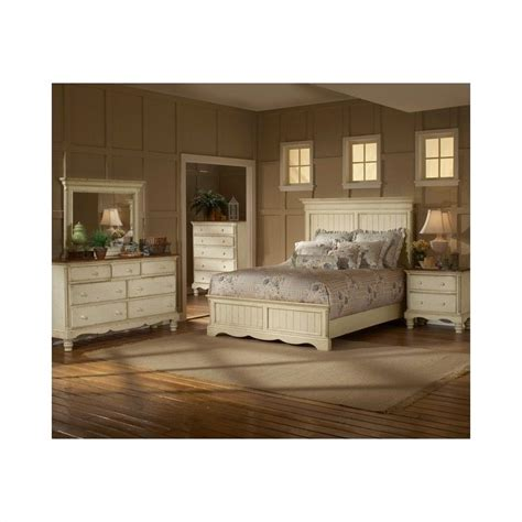 wilshire furniture bedroom hillsdale wilshire 4 bedroom set in antique white