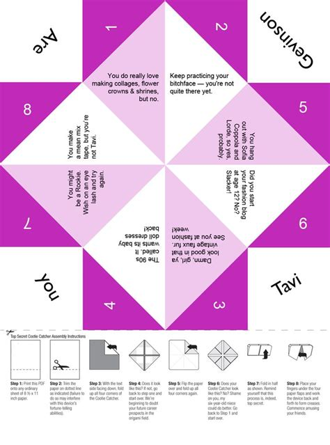 origami fortune teller printable 17 best images about printable paper fortune tellers on
