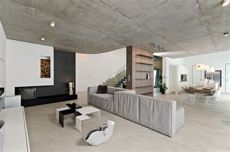 Ideas For Kitchen Renovations sophisticated concrete interiors in the czech republic by