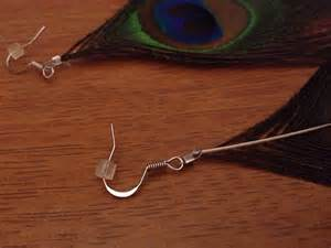 how to make feather earrings with crimp diy peacock feather earrings fashion for philanthropy