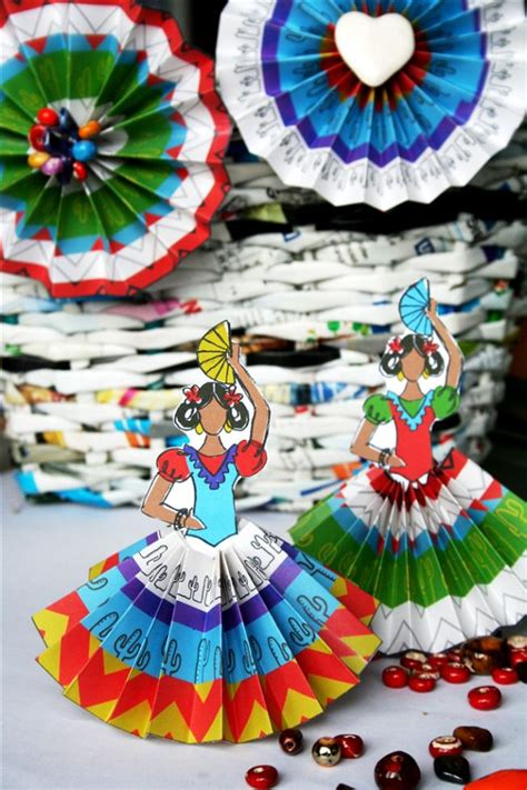 spain crafts for free senoritas and rosettes printables