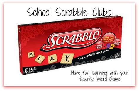 School Scrabble Clubs Start One At Your School Now