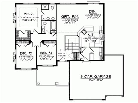 ranch plans with open floor plan eplans ranch house plan open floor plan 1664 square one level house plans open concept