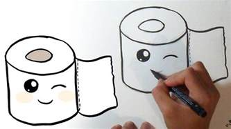 how to draw a toilet how i draw toilet paper kawaii
