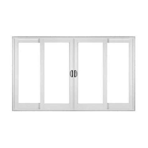 home depot sliding glass patio doors simonton white 4 panel rail sliding patio door with