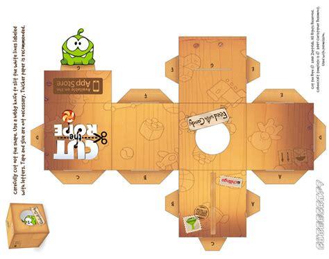 paper cube craft om nom box cubecraft by rhythm of on deviantart