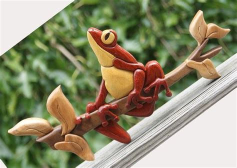 tree frog woodworking tree frog intarsia wall hanging toad wood carving