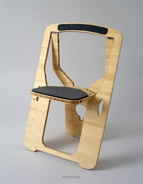 Folding Wooden Camp Chairs by The Folding Chair For Small Spaces By Monstrans