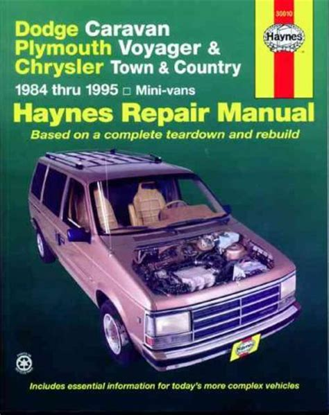 automotive repair manual 1995 plymouth voyager navigation system chrysler town country 1984 1995 haynes service repair manual sagin workshop car manuals repair