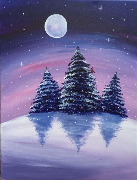 paint nite ideas a winter s paint nite paintings paid