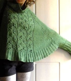 poncho knitting pattern with sleeves sew knit me a sleeved poncho