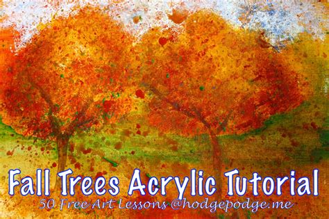 acrylic painting ideas trees fall trees acrylic lesson at hodgepodge hodgepodge