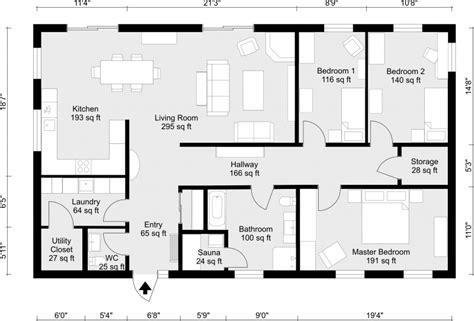 Free Online Floor Plans 2d floor plans roomsketcher