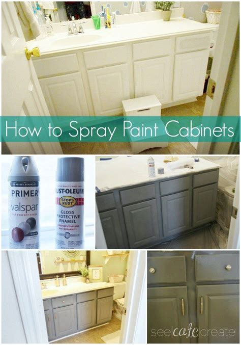 spray painter for cabinets how to spray paint cabinets bathroom makeover learn how