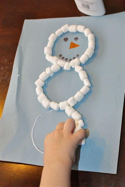 mini craft projects preschool craft mini marshmallow snowman i