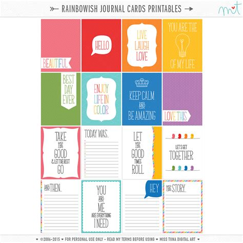 card blogs free journal card printables
