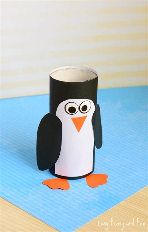 penguin crafts for paper roll penguin craft winter crafts for easy