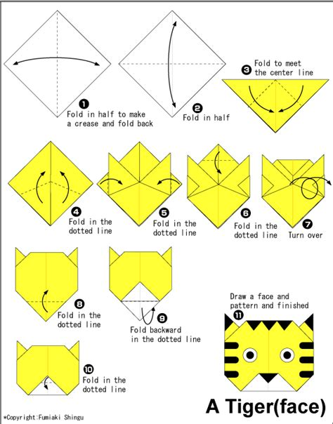 Origami Tiger Easy Origami For