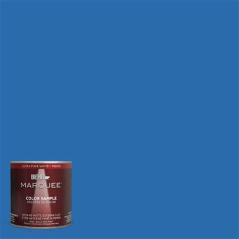 home depot paint blue behr marquee 8 oz mq4 24 electric blue interior exterior