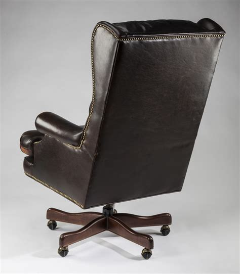 wingback swivel chair executive leather wingback swivel office chair