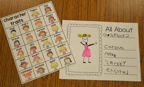 picture books character traits a place called kindergarten character traits in kindergarten