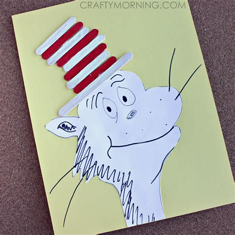 popsicle stick crafts for free cat in the hat popsicle stick craft free printable