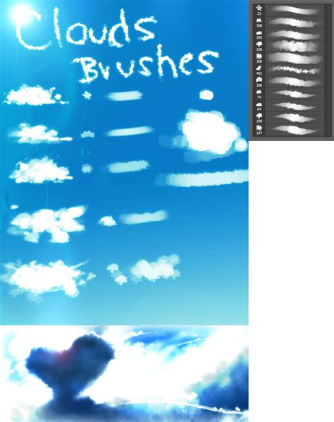 paint tool sai cloud brush clouds brushes by ryky on deviantart