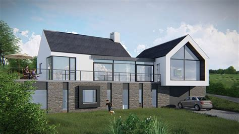 split level contemporary house plan 80789pm 1st floor housing projects architectural design donegal