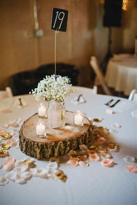 rustic table centerpieces 25 best ideas about wood slab centerpiece on