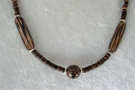 wooden beaded necklaces wooden earth tones beaded necklace
