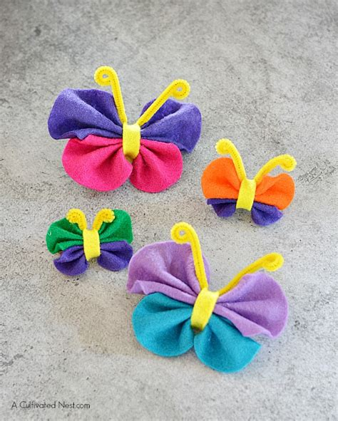 felt crafts for no sew easy no sew felt butterfly craft
