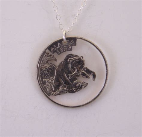 how to make jewelry out of coins alaska cut out coin jewelry necklace pendant