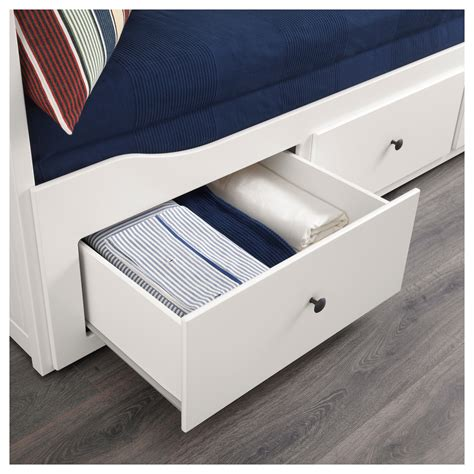 white bed frame with drawers hemnes day bed frame with 3 drawers white 80x200 cm ikea