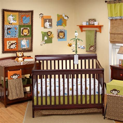 monkey crib bedding green and brown monkey crib bedding new brown green