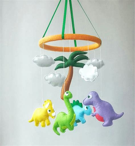 mobile baby crib dinosaur baby crib mobile nursery decor felt mobile hanging
