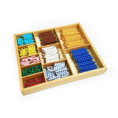 bead bar montessori decanomial bead bars with box