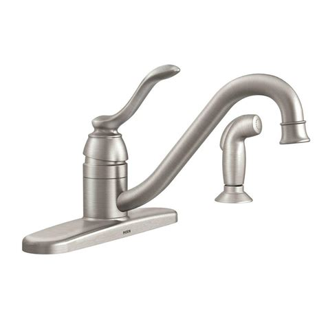moen single handle kitchen faucet moen banbury single handle standard kitchen faucet with side sprayer in spot resist stainless
