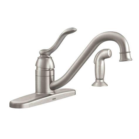 moen kitchen faucet models moen banbury single handle standard kitchen faucet with side sprayer in spot resist stainless