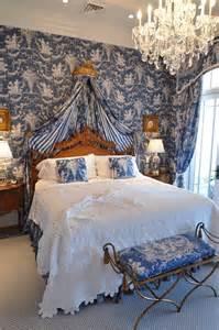 blue toile bedroom home ideas