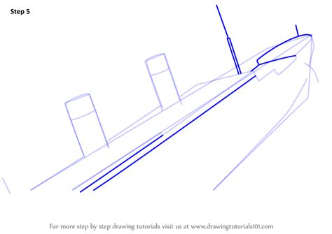 how to draw learn how to draw titanic sinking boats and ships step