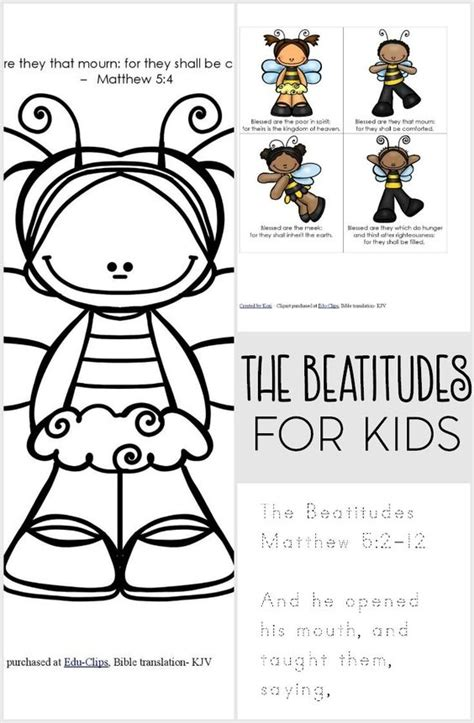 beatitudes crafts for the beatitudes free printable pack