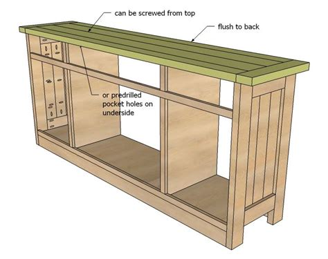 buffet woodworking plans white build a planked wood sideboard free and easy