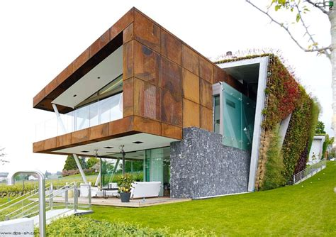 house plans green eco friendly house design villa box with an multifaceted garden outer shell