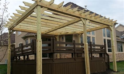 how to build a pergola on an existing deck pergola design ideas pergola on existing deck simple