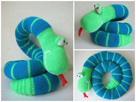 how to knit a snake 1000 images about snakes on wool toys and