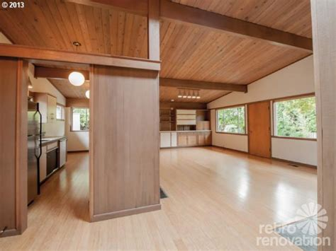retro wood paneling midcentury modern time capsule house in portland oregon