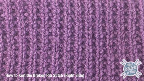 rib knit the broken rib stitch knitting stitch 165 new