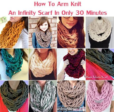 how to knit an infinity scarf with needles creative ideas diy arm knit infinity scarf in 30 minutes